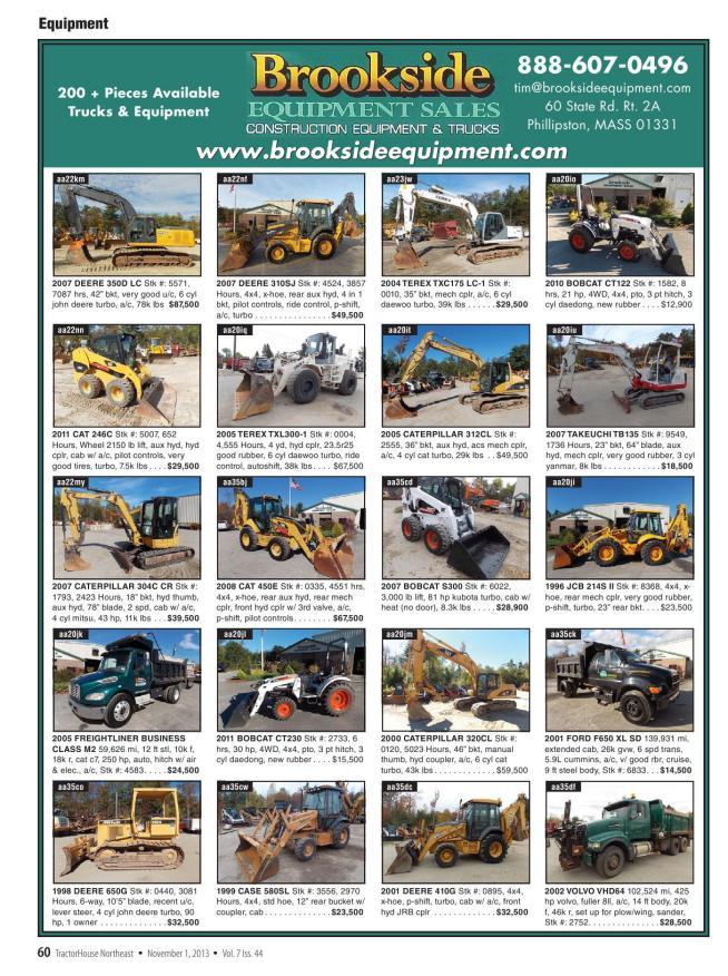 bradco 617 trencher operators user owner manual
